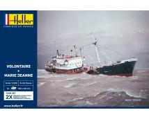 Heller 1:200 Volontaire + Marie Jeanne TWIN SET (2 modelkits)    HEL-85604