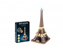 Revell 3D Puzzle Eiffel Toren met Multicolor LED verlichting     00150