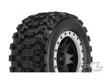 Proline MX43 Badlands X-MAXX  mounted on Impulse Beadlock wheels 2 stuks