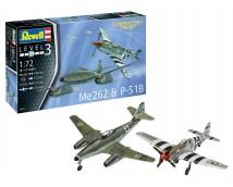 Revell 1:72 Me262 & P-51B Combat MODEL SET     63711