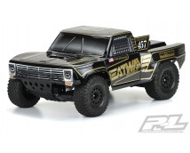Pre-Cut 1967 Ford F-100 Race Truck Heatwave Edition Tough-Color (Black) Body for Slash 2wd, Slash 4x4 & PRO-Fusion SC 4x4      3551-18