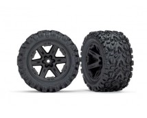 Traxxas Tires and Wheels Rustler 4x4 Black 2pcs.   TRX67732