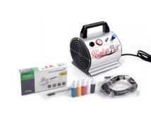 Airbrush Set Fengda AS-176K met compressor AS-176, Airbrush BD-130 en accessoires
