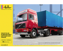 Heller 1:32 Volvo F12-20 Globe Trotter and Container Semi Trailer  HEL81702