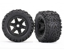 Traxxas Talon EXT Wheels and Tires 2pcs. zwart  1:8 / Revo   TRX8672
