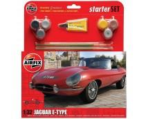 Airfix 1:32 Jaguar E-Type Starter Set icl. lijm verf en kwasten     A55200