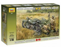 Zvezda 1:35 Motorcycle M-72 with 83mm Mortar        3651