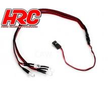 HRC 1:10 Front / Rear LED Light Set      HRC8703