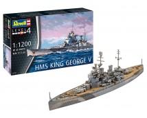 Revell 1:1200 HMS King George V