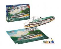 Revell 1:160 Raderboot GOETHE - Paddle Steamer (MODEL SET)
