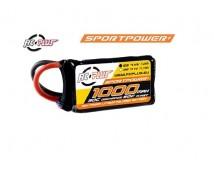 RC Plus Sport Power 7,4V 1000mAh 30C LiPo Deans Stekker