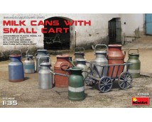 Mini Art 1:35 Milk Cans With Small Cart
