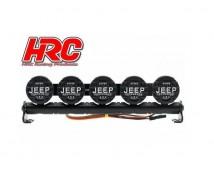 HRC LED Roof Bar 5x LED 1:10 met JEEP Covers