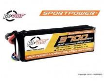 RC Plus Sportsline 4S LiPo 14,8V 3700mAh 30C Deans stekker