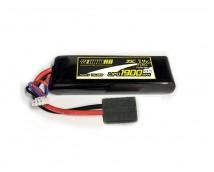 Yellow 7,4V 1900mAh LiPo LaTrax 1:18 modellen met TRX stekker
