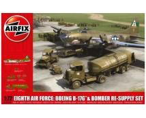 Airfix 1:72 Eight Airforce: Boeing B-17G + Bomber RE-Supply Set