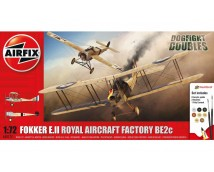 Airfix Fokker E.II + RAF Be2C MODEL SET 1:72 incl lijm en verf   A50177