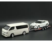 Aoshima 1:24 Auto Ambulance Brian James A4 Transport Trailer