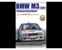 Aoshima BEEMAX 1:24 BMW M3 E30 DTM 1991 Deutschland Model (Zolder Winner)
