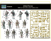 Master Box 1:35 Allied Forces WWII North Africa Desert Battles