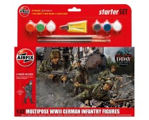 Airfix 1:32 Multipose WWII German Infantry Figures MODEL SET