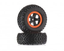Traxxas Short Course Wheels and Tires Glued 2pcs. Black
